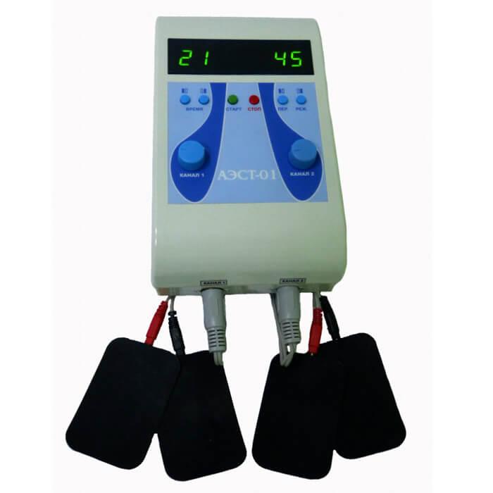 Аппарат для электромиостимуляции АЭСТ-01 двухканальный. фото 1