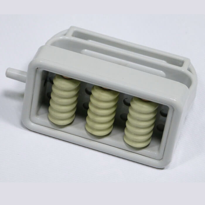 Насадка с тремя магнитными роликами № 1 для вакуумного массажера МВТ-01. фото 1
